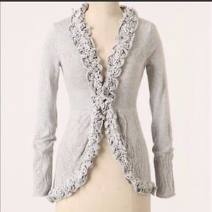 NWOT Anthropologie Guinevere Curly Top Cardigan